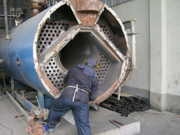 Thay ống lửa nồi hơi